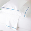 Light Blue Flat Sheet Set Glam