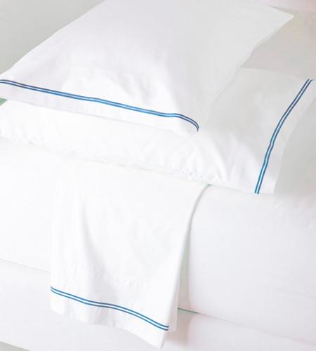 Light Blue Flat Sheet Set Glam