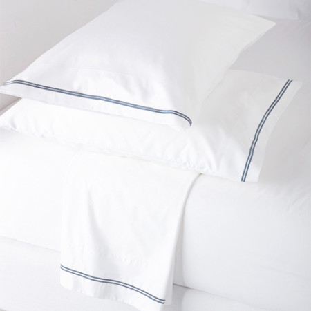 Navy Dove Flat Sheet Set Glam