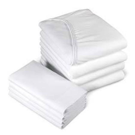 Standard white Fitted Sheet Glam