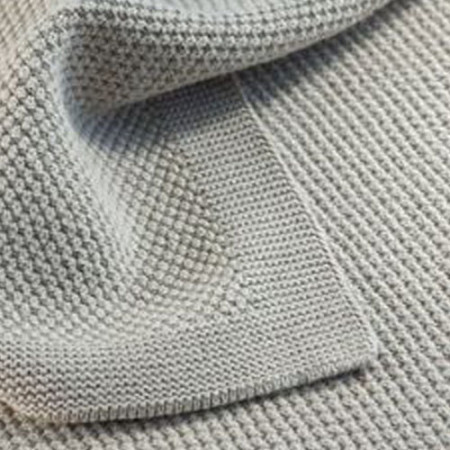throws Moss Stitch  Vanilla grey