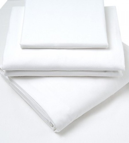 white brushed cotton flat sheet -  glam collections