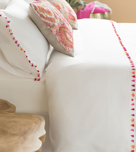 Pink pom pom sheet glam collections